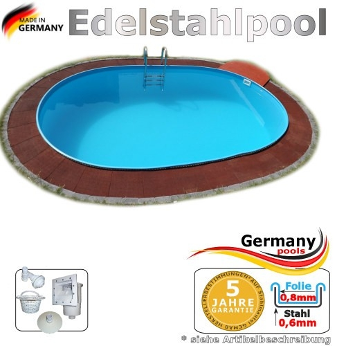 Edelstahlpool 530 x 320 x 125 cm