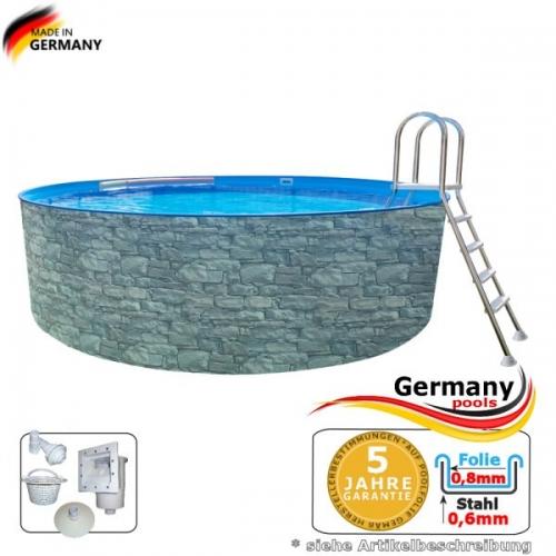 Gartenpool 4,5 x 1,2 Stone Pool Stein Optik