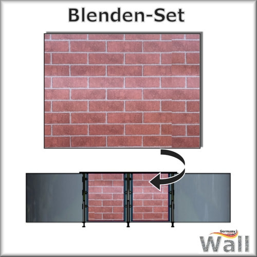 Germany-Pools Wall Blende A Tiefe 1,20 m Edition Brick