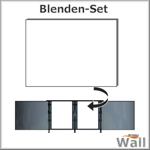 Germany-Pools Wall Blende B Tiefe 1,50 m Edition Omega Alu