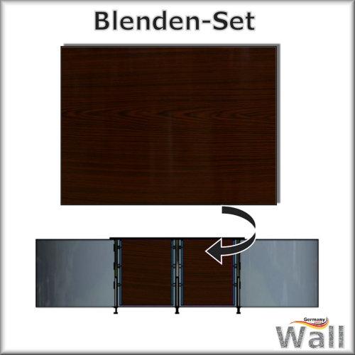 Germany-Pools Wall Blende C Tiefe 1,20 m Edition Dark-Wood