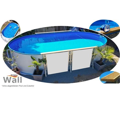 Ovalpool freistehend 7,30 x 3,60 m Germany-Pools Wall