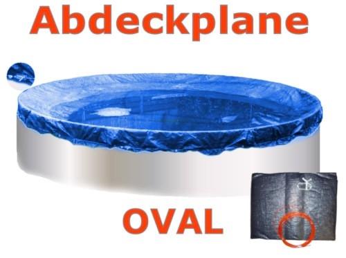 Pool Abdeckplane 8,55 x 5,0 m Poolabdeckung Winter 855 x 500