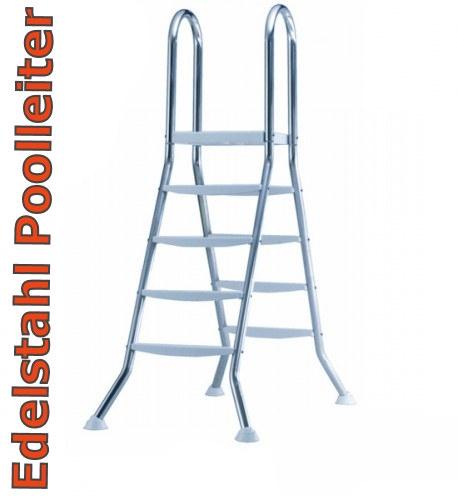 Poolleiter Edelstahl 1,2 1,25 Hochbeckenleiter Schwimmbadleiter