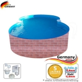 470 x 300 x 120 Pool achtform Achtform Pool Brick Ziegel