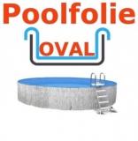 5,25 x 3,20 x 1,50 m x 0,8 Schwimmbadfolie oval Einhängebiese