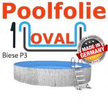 600x320x120 cm x 0,8 Poolfolie mit Keilbiese Ovalpool