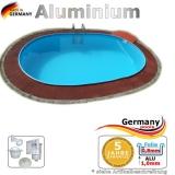 Aluminium Pool 4,90 x 3,00 x 1,50 m Alu Einbaupool