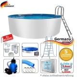 Alupool 550 x 125 Komplettset Aluminium-Pool