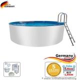 Aluwand Schwimmbad 7,30 x 1,50 m Aluminium Rundpool