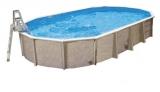 Aufstellbecken 8,5 x 4,9 x 1,32 m oval Center Pool freistehend Set