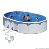 Einbaupool 7,3 x 3,75 x 1,2 m Breiter Handlauf Pool Set