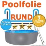 Ersatzfolie rund 350 x 90 cm x 0,6 Poolfolie Innenfolie Pool