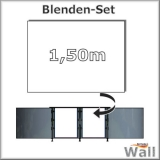 Germany-Pools Wall Blende C Tiefe 1,50 m Edition Alpha Weiß