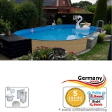 Ovalpool Holz Design 585 x 350 x 120 cm