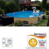 Ovalpool Holz Design 730 x 360 x 120 cm