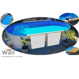 Ovalpool freistehend 6,30 x 3,60 m Germany-Pools Wall
