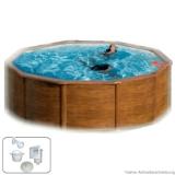 Pool Holz 3,50 x 1,20 m Holzbecken