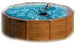 Pool Holz 350  x 120 Holzpool Holz Optik Set