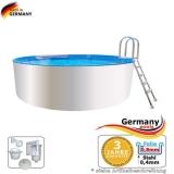 Poolbecken 4,6 x 0,9 m Weiss
