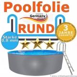 Poolfolie 2,5 x 1,2 m x 0,8 rund bis 1,5 m