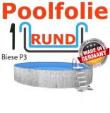Poolfolie 3,5 x 1,2 m x 1,0 mm mit Keilbiese