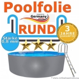 Poolfolie 8,0 x 1,2 m x 0,8 rund bis 1,5 m