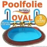 Poolfolie 8,7 x 4,0 x 1,2 m x 0,8 bis 1,5 m