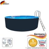 Stahl-Pool 6,4 x 1,25 m Anthrazit