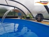Ovalbecken Anthrazit 5,85 x 3,5 x 1,25 m Komplettset