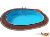 Alu Pool 6,30 x 3,60 x 1,25 m Alu Ovalpool