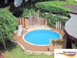 Stahl-Pool 5,0 x 1,25 m Anthrazit