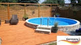 Aluwand Schwimmbad 2,50 x 1,50 m Aluminium Rundpool