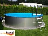 Edelstahlpool 800 x 125 cm Komplettset