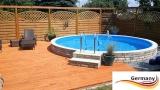 Aluwand Schwimmbad 3,50 x 1,50 m Aluminium Rundpool