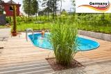 Edelstahl Pool 5,25 x 3,2 x 1,25 m oval Komplettset