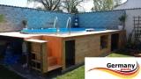 7,25 x 4,60 x 1,25 m Achtform-Gartenpool Achtform-Schwimmbecken
