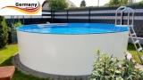 Alupool 600 x 125 Komplettset Aluminium-Pool
