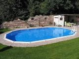 Aufstellpool 8,5 x 4,9 x 1,32 m Center Pool oval freistehend