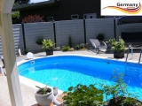 Edelstahl Pool 7,15 x 4,0 x 1,25 m oval Komplettset