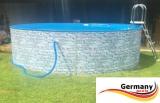 Gartenpool 4,6 x 1,2 Stone Pool Stein Optik