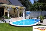 Pool oval 7,37 x 3,6 x 1,2 m Komplettset